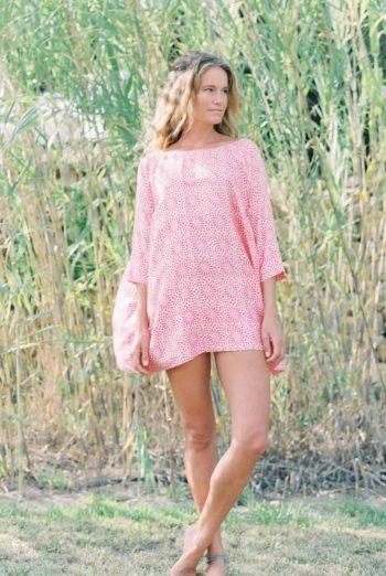 pink sil aloka tunic