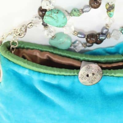turquoise, wood, crystals and silver