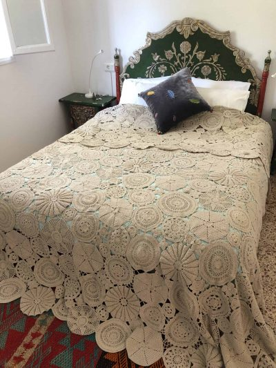 Crochet Bed Cover in Cream