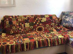 Earth Tones Crochet Blanket