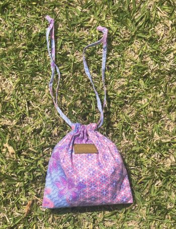bikini in a bag pink and purple