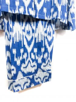 ikat pyjamas in blue