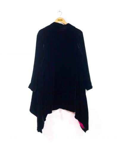 Flying Jacket in Black Velvet