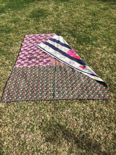 Patchwork Kantha Blanket Maroons