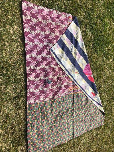 patchwork kantha blanket