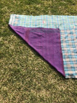 kantha stitch blanket
