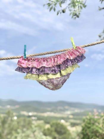 lilac silk batik print