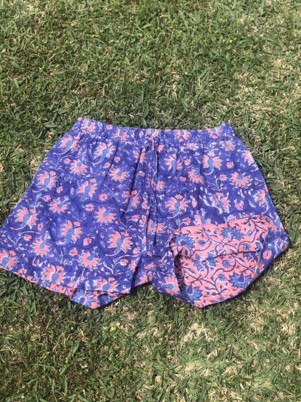 block print shorts