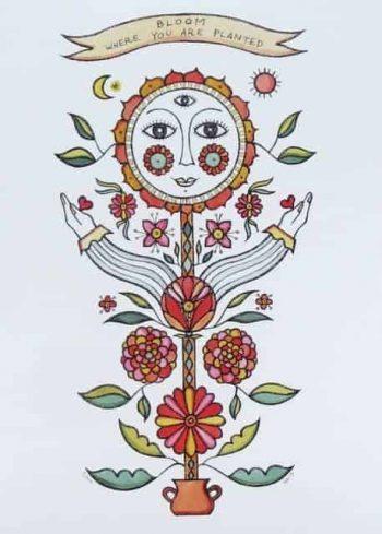 Bea Poggio Print Bloom Where You Are Planted