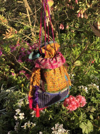 Silk Kantha Patchwork Bag