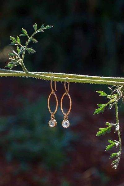 earrings with blue topaz