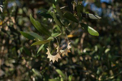 earrings in an olive tree