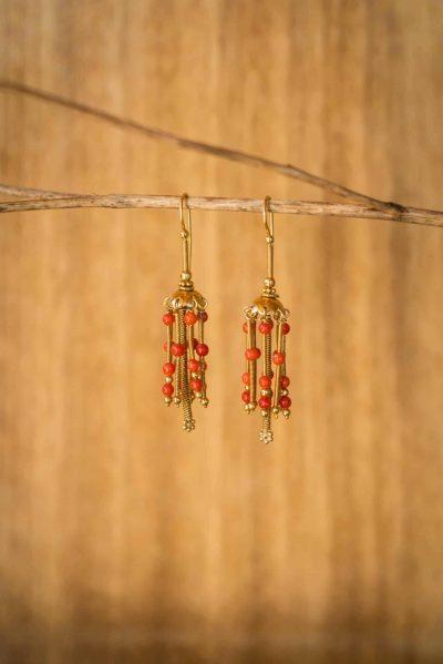 Coral Carousel Earrings
