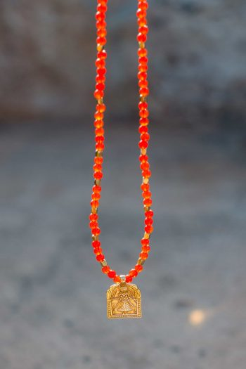 Domestic Goddess Necklace with Carnelian