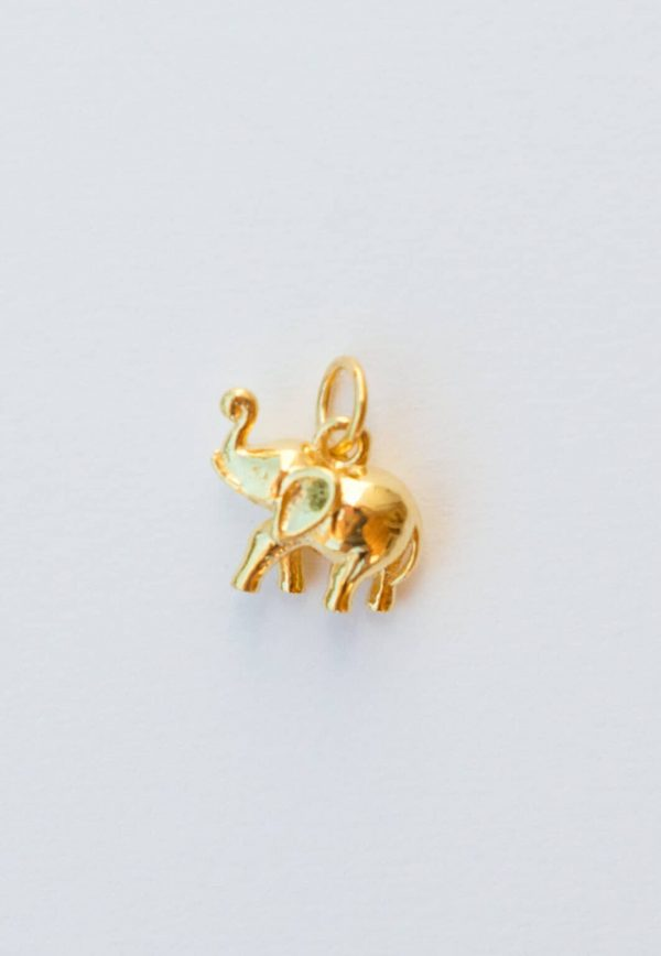gold plated elly charm