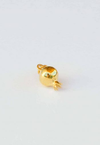 silver gold plated pomegranate charm
