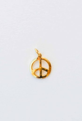 silver gold plated peace charm