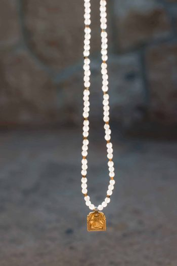 Domestic Goddess Necklace with rose quartz