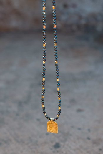 Domestic Goddess Necklace with black onyx