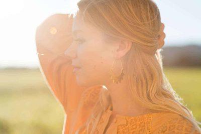 Gold Half Sun Earrings
