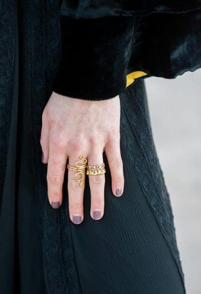 silver gold plated rings