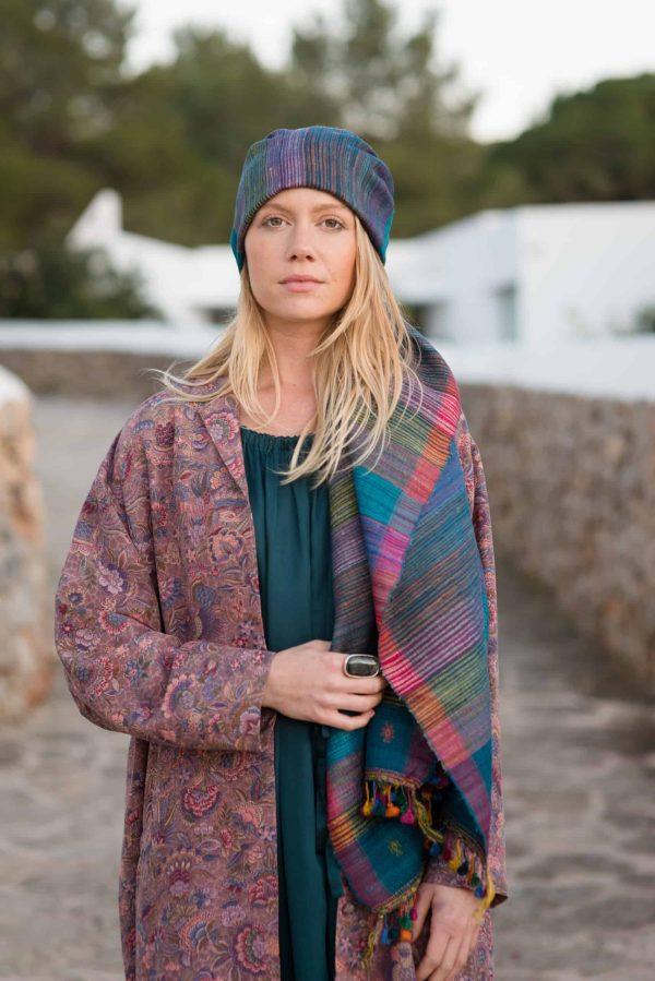 long overcoat in silk