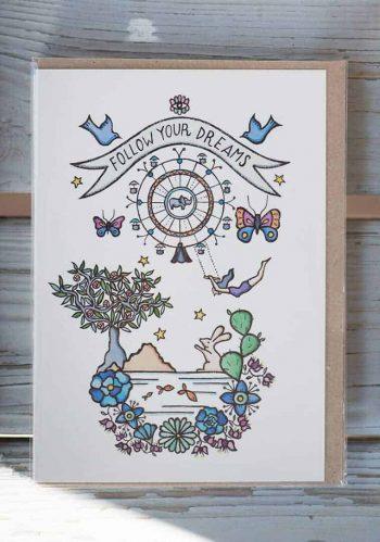 Bea Poggio Dreams Greetings Card