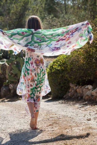 botanical print cactus dress