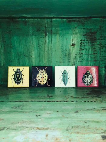 selection of decoupage coasters