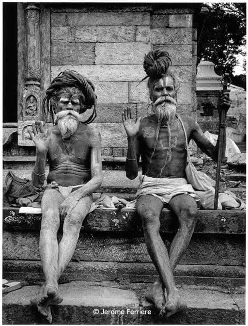 Holy Twins black & white photography ibiza by Jérôme Ferrière