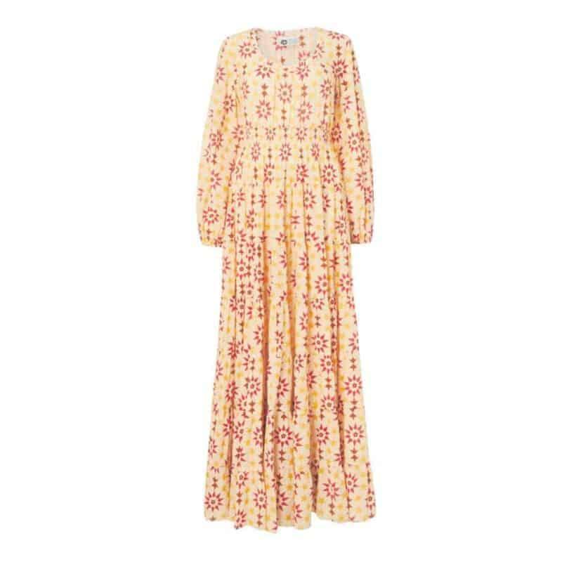 star tile print dress