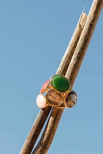 stacked gemstone rings
