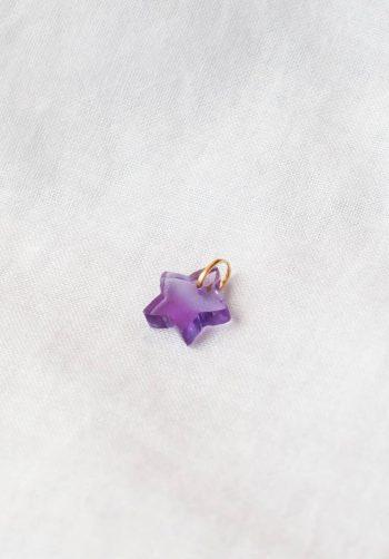 amethyst star charm