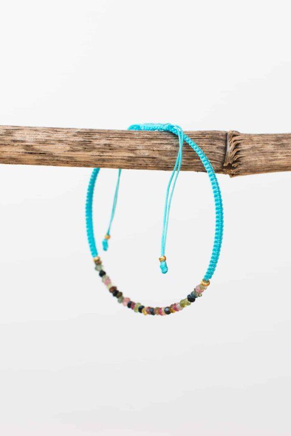 turquoise tourmaline string bracelet