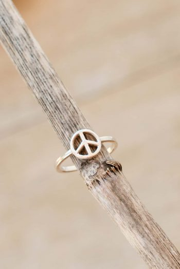 silver peace symbol ring