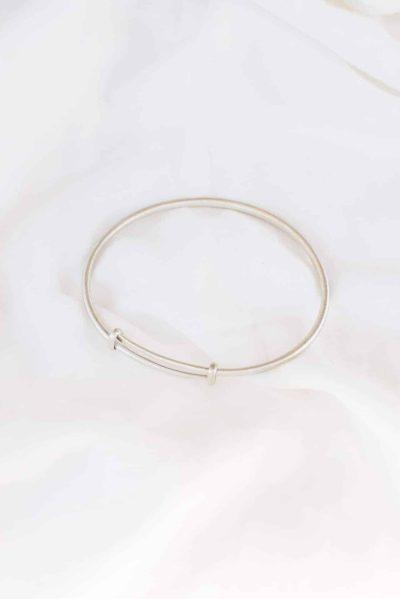 simple silver bangle