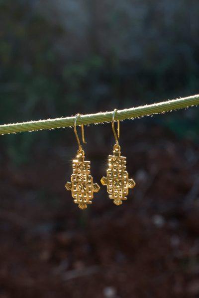 Ethiopian cross earrings