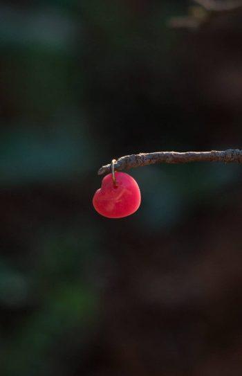 rhodonite heart charm gemstone