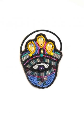 lilca hamsa hand beaded hair bobble