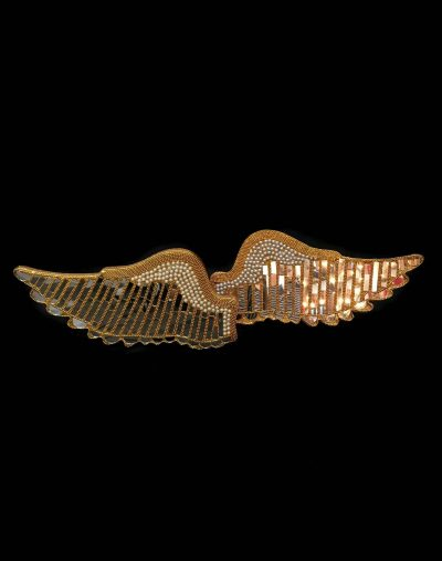 gold mirrored wings