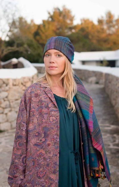 silk head scarf