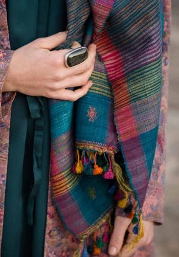 colourful wild silk scarf