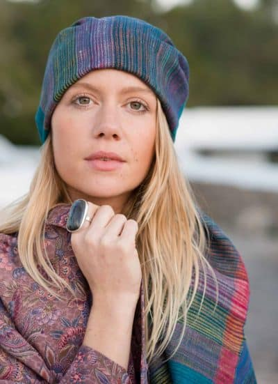 wild silk scarf or head scarf