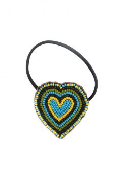 Turquoise Heart Hair Bobble
