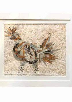 collage of a chicken