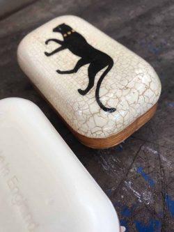 puma decoupage soap