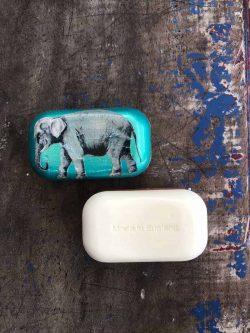 decoupage elephant soap