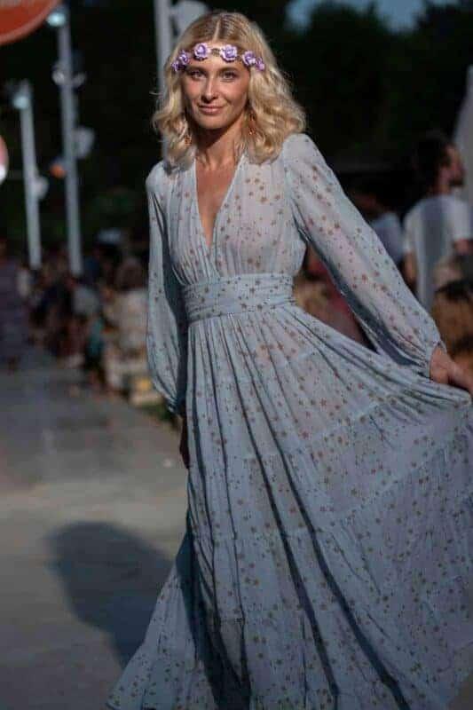 long sleeve lyrical dress with stars