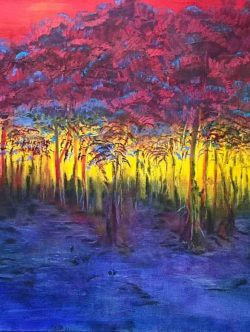 Sunset Through the Trees canvas