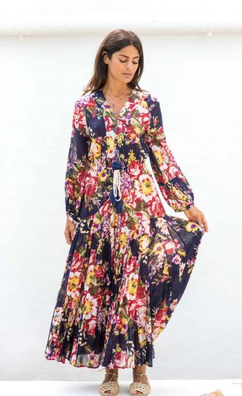 nay floral ankle length dress